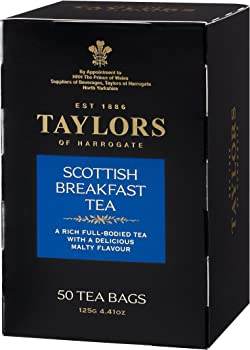 6-Pack Taylors of Harrogate Scottish 50 Teabags Breakfast