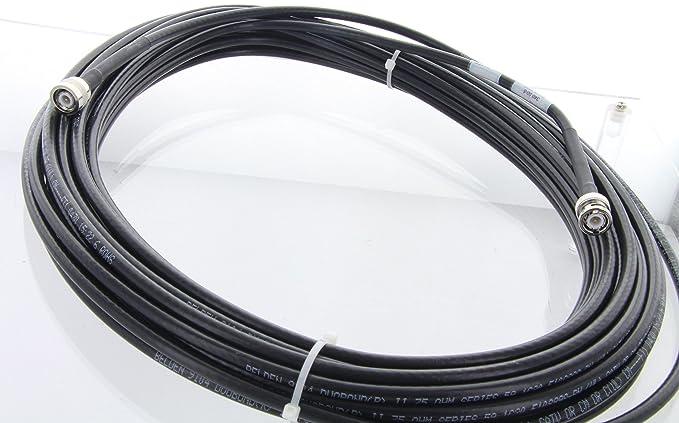 Belden duobond Cable Coaxial 75 Ohm RG59 TV/escáner/Cable de antena Cable BNC macho a TNC macho, 50 pies: Amazon.es: Electrónica