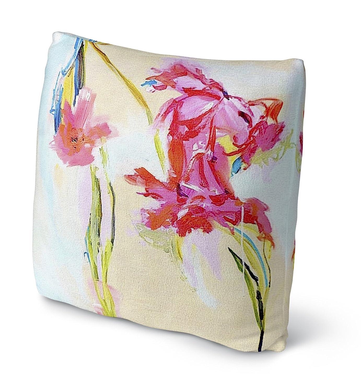 Size: 16x16x4 - SSKAVC3504FBS16 - PARISIAN Collection Pink//Blue//Cream KAVKA Designs Happier Hour Fleece Throw Pillow,
