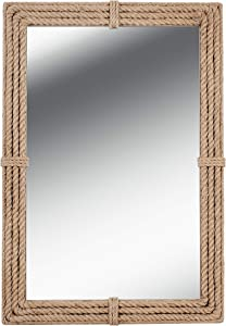 Kenroy Home Rustic Wall Mirror ,41 Inch Height, 2 Inch Length, 28 Inch Width with Natural Rope Finish