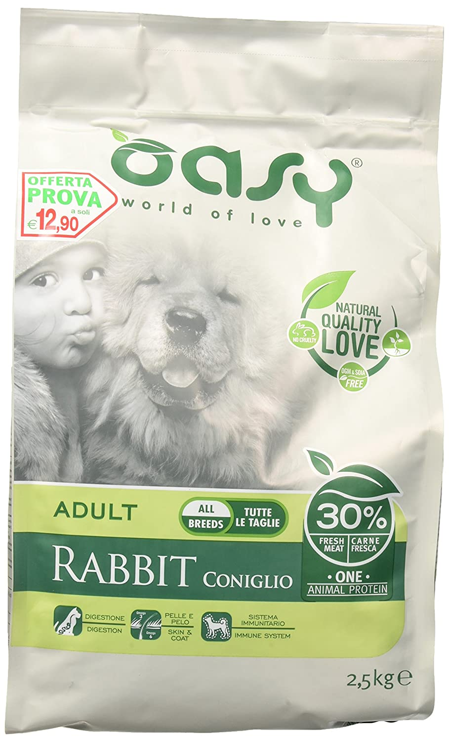 Oasy Dry Dog One – Adult Rabbit 2.5 kg. Wonderfood S.p.A.