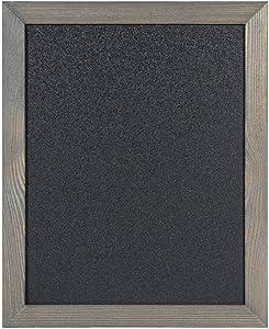 Rustic Wood Magnetic Chalkboard 20x26 /Writing Area 18x24 - for Wedding, Kitchen, Bar, Restaurant, Menu & Home - Framed Wall Chalk Board, Grey