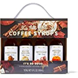 Thoughtfully Gifts, Fall Themed Coffee Syrups, Flavors Include Gingerbread, Salted Caramel, Peppermint and Pumpkin Spice, Pac