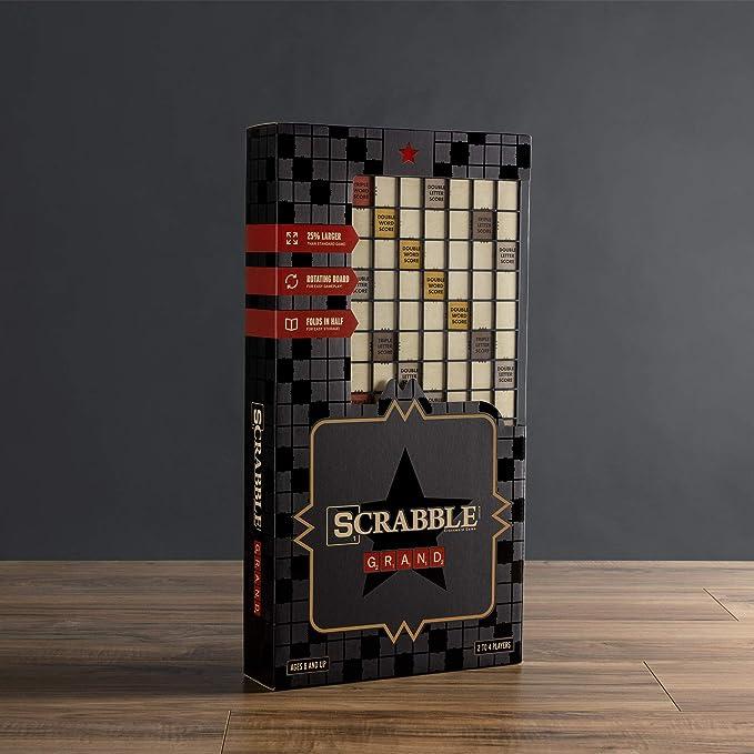 WS Game Company Scrabble Grand Edición Plegable con Tablero de Juego Giratorio de Madera: Amazon.es: Juguetes y juegos