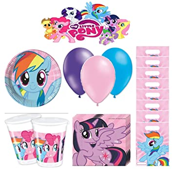 My Little Pony kit de cumpleaños 8 personas: Amazon.es ...