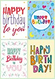 12 Modern Design Birthday Cards & Envelopes by Greetingles. Made in UK