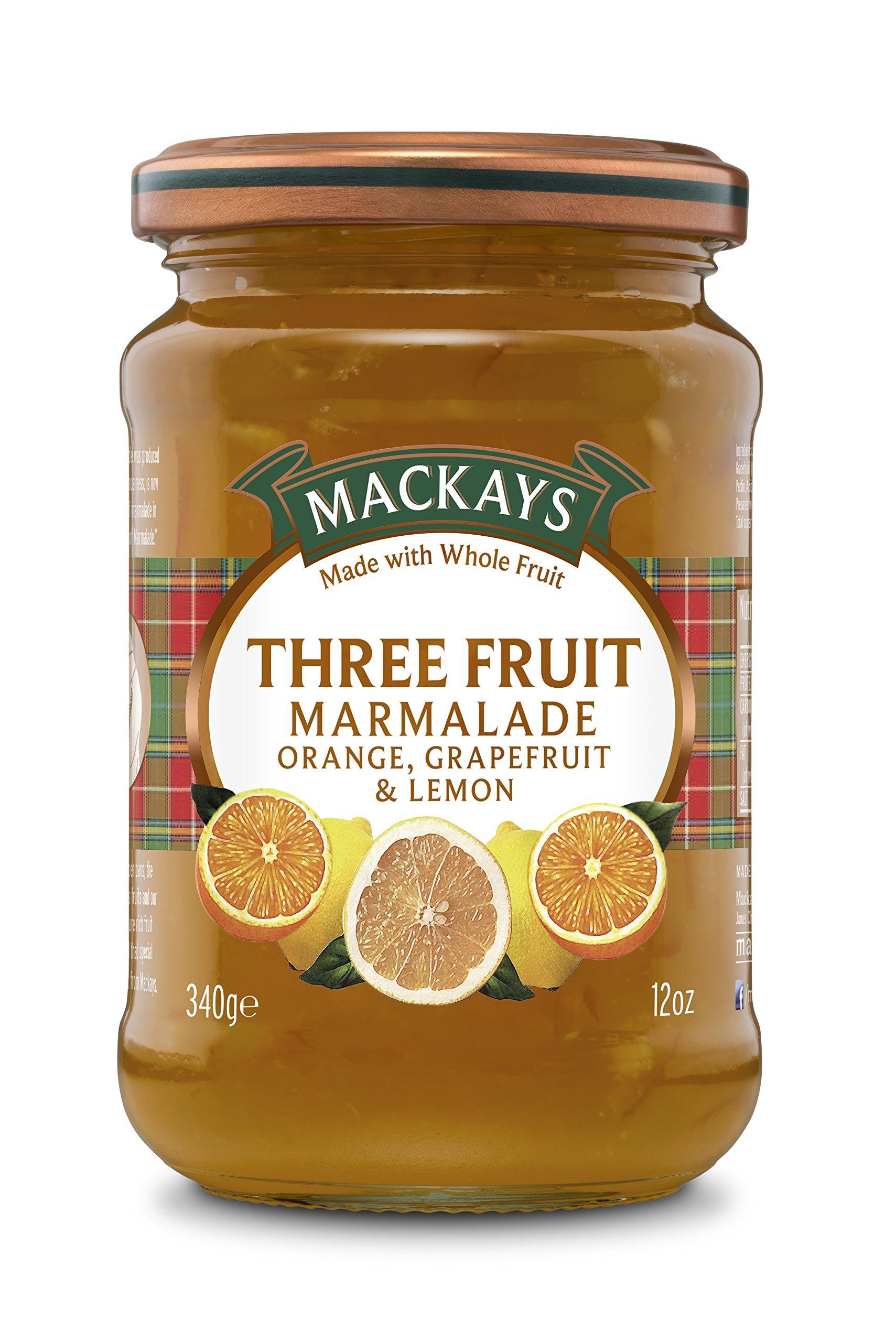 Mackays Three Fruit Marmalade, 12 Ounce