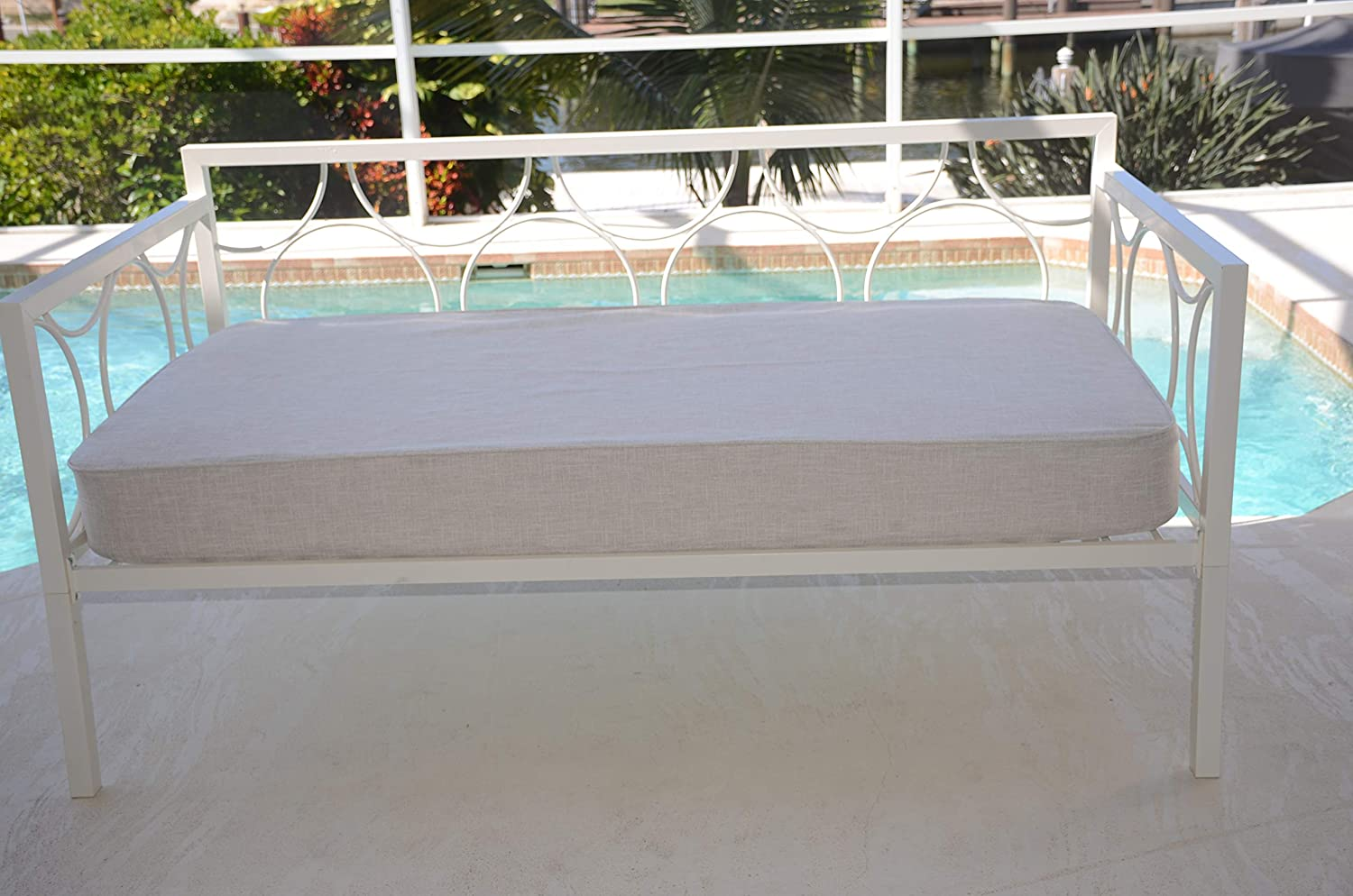 Daybed Matching Fitted Twin Size Cover. Linen Natural.