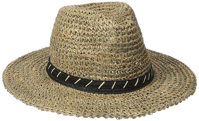 b43d26a53dc527 San Diego Hat Co. Men's 3 inch Brim Crown Crochet Straw Sun Packable,  Natural