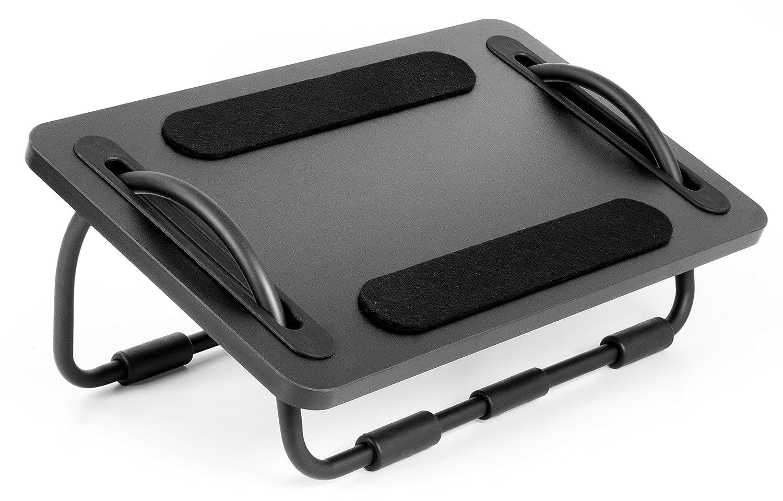 VIVO Black Ergonomic Adjustable Tilting Foot Rest Sliding Elevated Footrest Relief Platform (STAND-FT02)