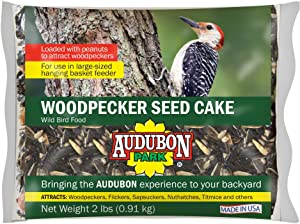 Audubon Park 11931 Woodpecker Seed Cake, 2-Pounds, 1-Pack