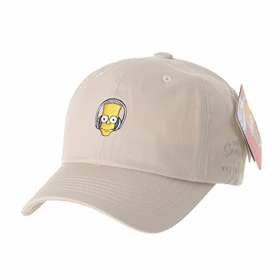 fd8ce136b8f WITHMOONS The Simpsons Baseball Cap Bart Simpson Headset Hat HL1584 (Beige)