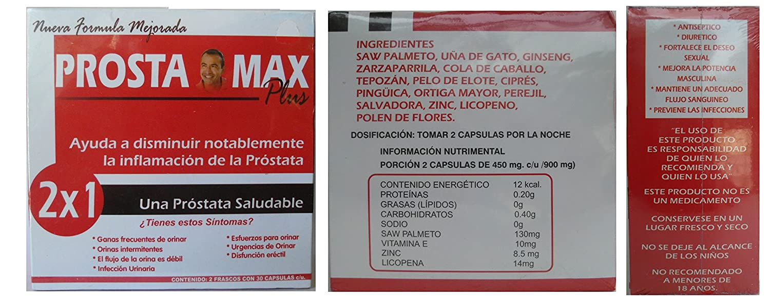 Amazon.com: 60 Caps Prostamax with Saw Palmetto (Prostaliv): Health & Personal Care