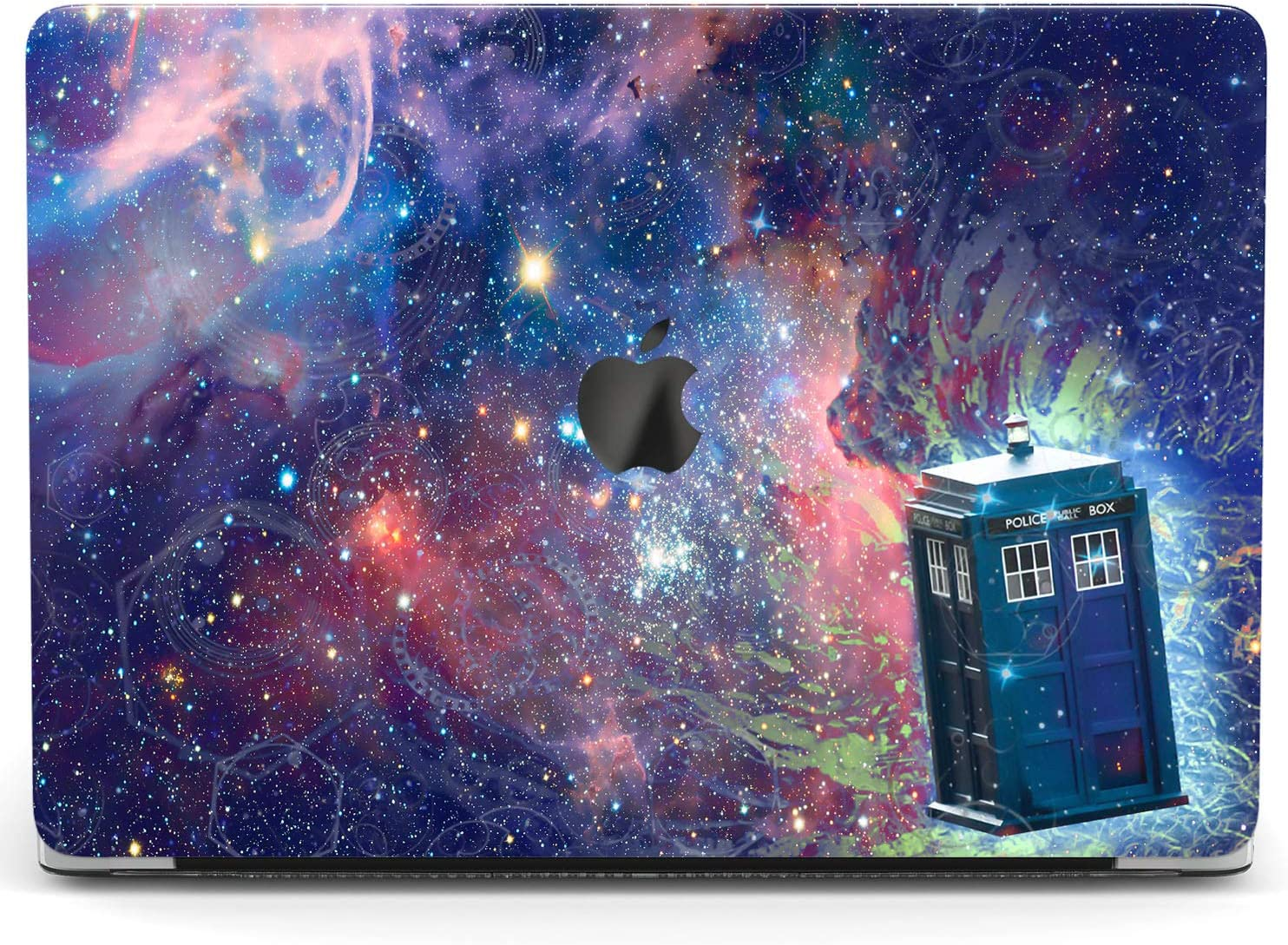 Wonder Wild Case For MacBook Air 13 inch Pro 15 2019 2018 Retina 12 11 Apple Hard Mac Protective Cover Touch Bar 2017 2016 2020 Plastic Laptop Print Space Police Call Box Galaxy TV Show Movie Abstract