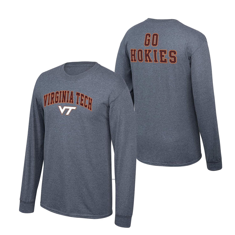 Elite Fan Shop NCAA Mens Virginia Tech Hokies Long Sleeve Shirt Dark Heather Back Virginia Tech Hokies Dark Heather XX Large