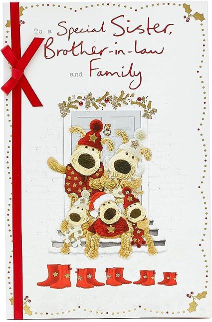 Biglietto di Natale per cognata e cognata, con Boofle per cognata