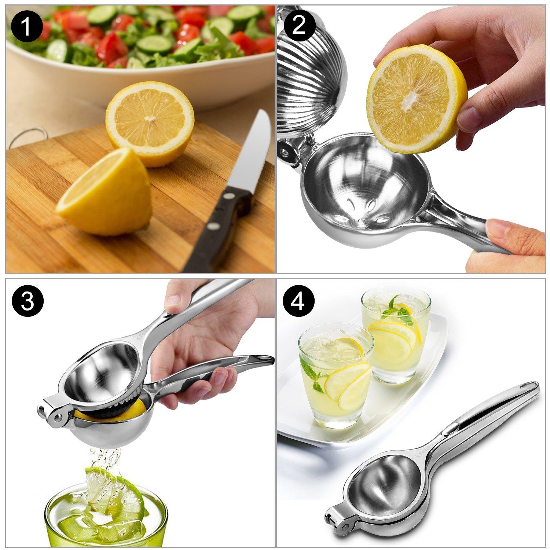 Compra Vakoo Exprimidor Limón Manual, Prima Exprimidor Manual de Acero Inoxidable, Prensa de Mano Jugo de Clip Fruta para Limón y Naranjas - Plata en ...