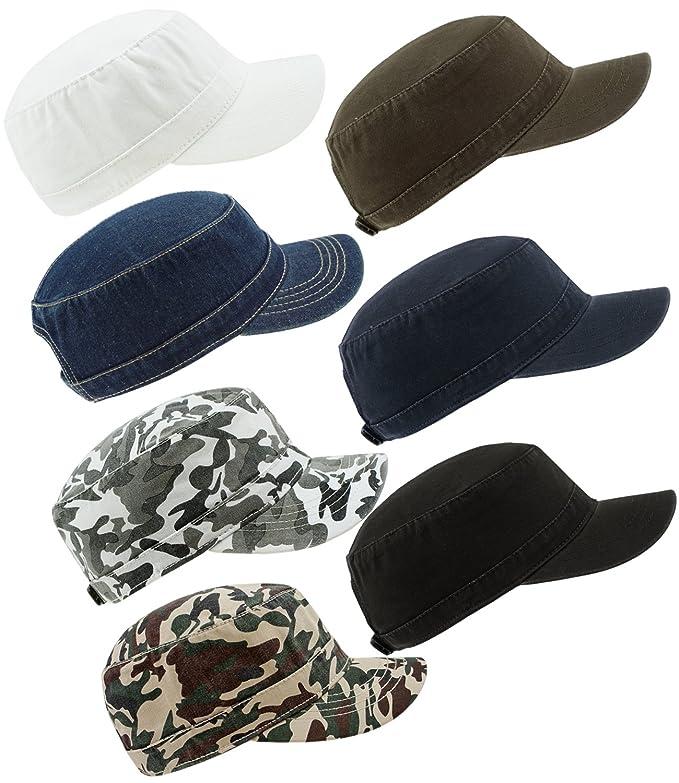 EveryHead Atlantis Ladies Urbancap Urban Cap Army Gi Cuba Teller S Hat with Visor  Peaked Summer Uni for Women (AL-303-S17-DA2-BLA-OS) incl Hutfibel Black  ... 14f062ac4f21