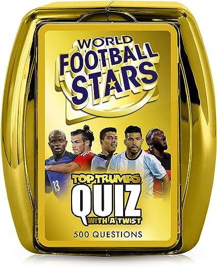 World Football Stars Top Trumps QUIZ GIOCO