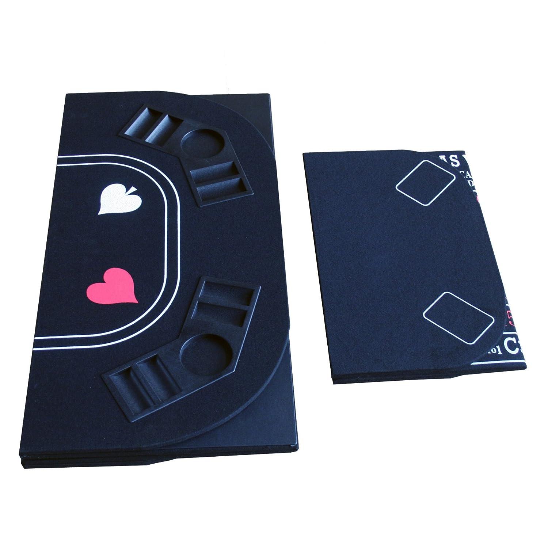 Folding Felt Carrying Bag IDS Poker Casino Texas Holdem Table Top for 3 in 1 Poker//Blackjack//Craps