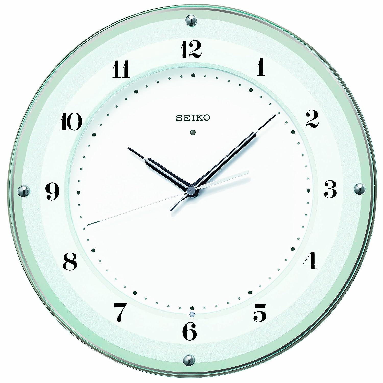 セイコー クロック 掛け時計 電波 アナログ 薄緑 KX380S SEIKO B00DON2UXU