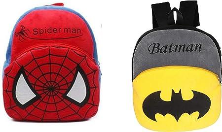 Spiderman and Batman Kids School Bag, Plush Bag , Picnic Bag