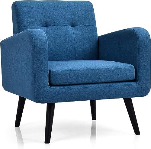 Best living room chair: Giantex Modern Upholstered Accent Chair