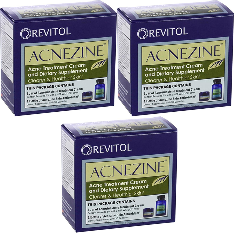 Revitol Acnezine 3 Kits Caps Acne Cream Clear Skin Amazon Ca