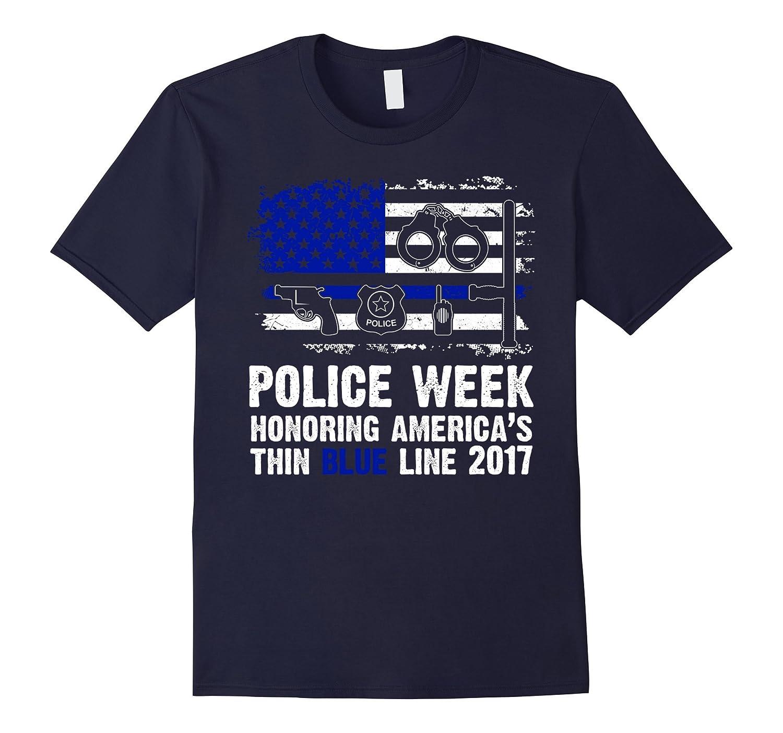Honoring Americas Thin Blue Line 2015 T-shirt US Policeman-TD