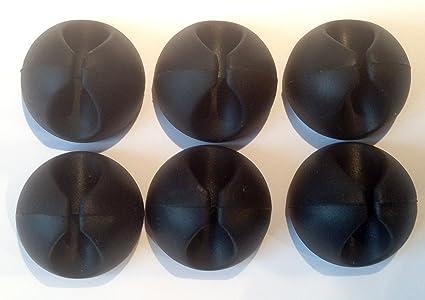 Organizzare Ufficio Acquisti : Fermacavi adesivi neri clip per organizzare la scrivania e fili