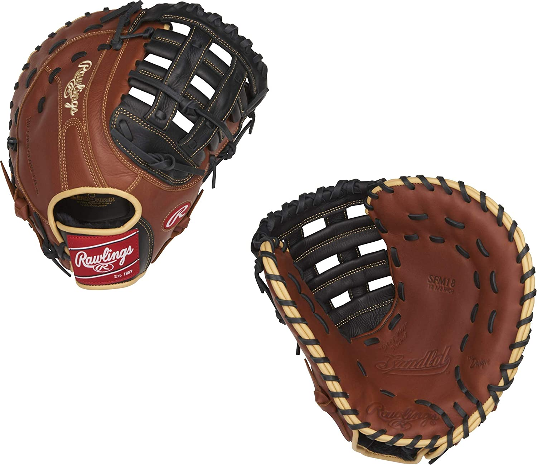 "Rawlings R9FM18BSG 12.5/"" R9 Gold Glove Youth Baseball First Base Mitt New!"
