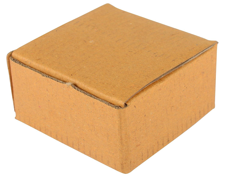 AM 5 capas Mini embalaje corrugado Rectangular cajas para objetos pequeños/3 x 3 x 1,5 cm/Set de 25 cajas: Amazon.es: Amazon.es