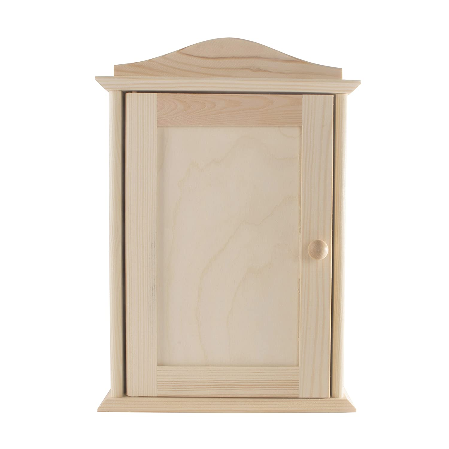 Wooden Key Box Rack Cabinet Holder/Wall Mounted/Paint Customise DIY / 6 Hooks / 20x6x29.5 cm SEARCH BOX