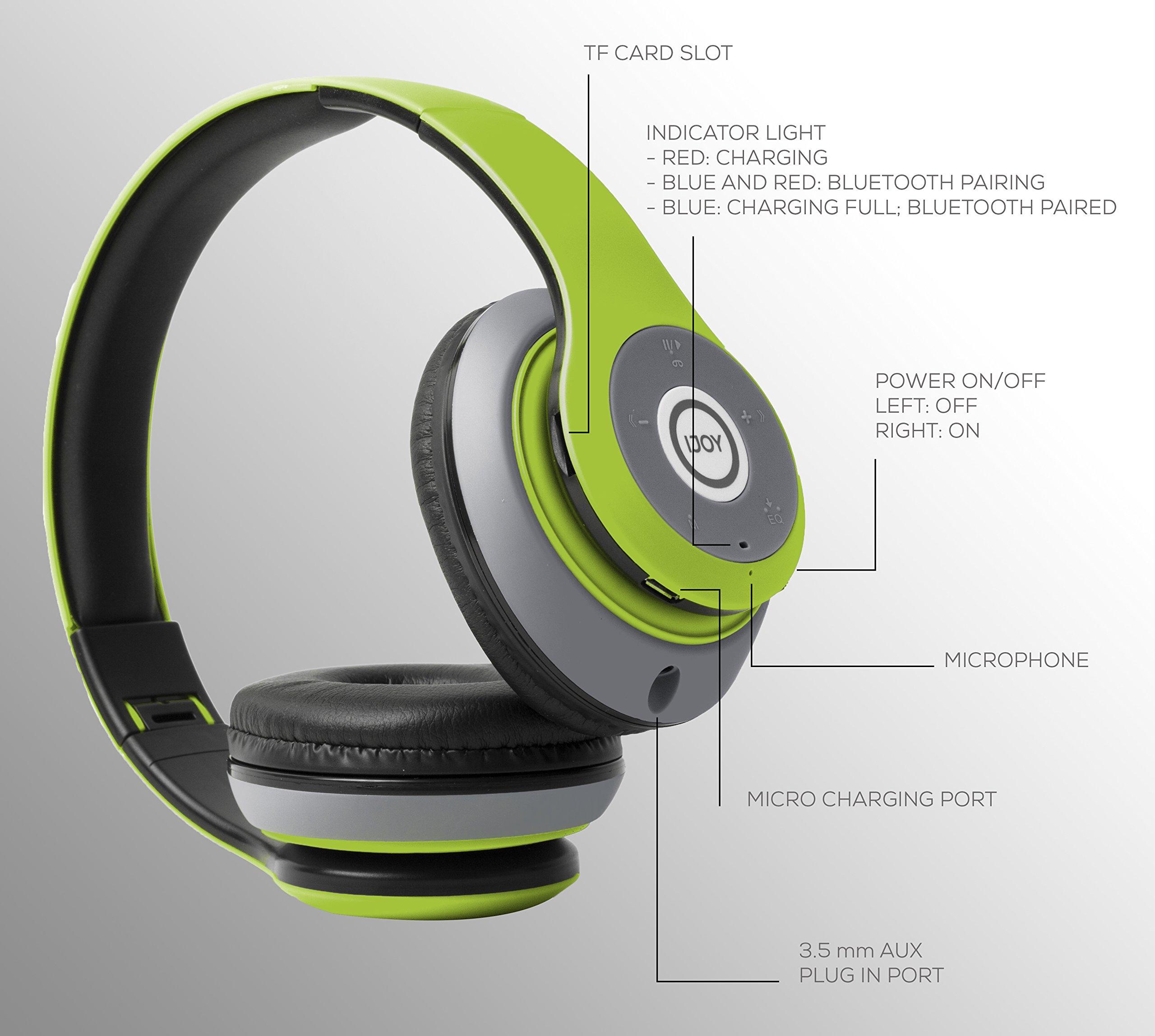 iJoy Matte Finish Premium Rechargeable Wireless Headphones Bluetooth