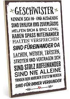 Amazon De Xl Shabby Vintage Schild Dekoschild Schwester Holzschild