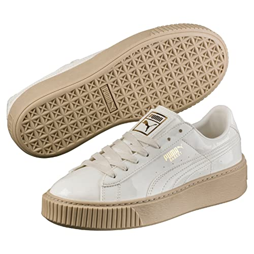31bbe28baf4 Puma Women s Basket Platform Patent Wn S Marshmallow Sneakers-6.5 UK India  (40 EU) (36331405)  Buy Online at Low Prices in India - Amazon.in