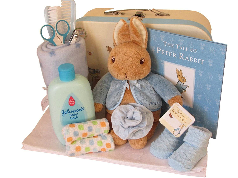 e3e24968b Peter Rabbit Gift Set /Baby Shower New baby Gift With Peter Rabbit Keepsake  Case Gift Set (Blue): Amazon.co.uk: Baby