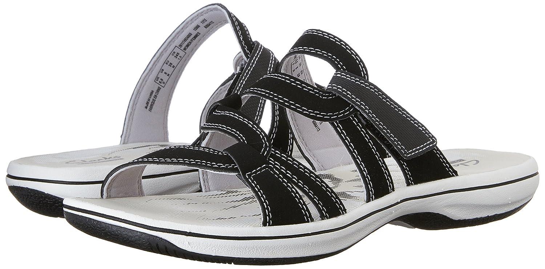 Amazon.com | CLARKS Women's Brinkley Lonna Fisherman Sandal, Black, 5 M US  | Shoes