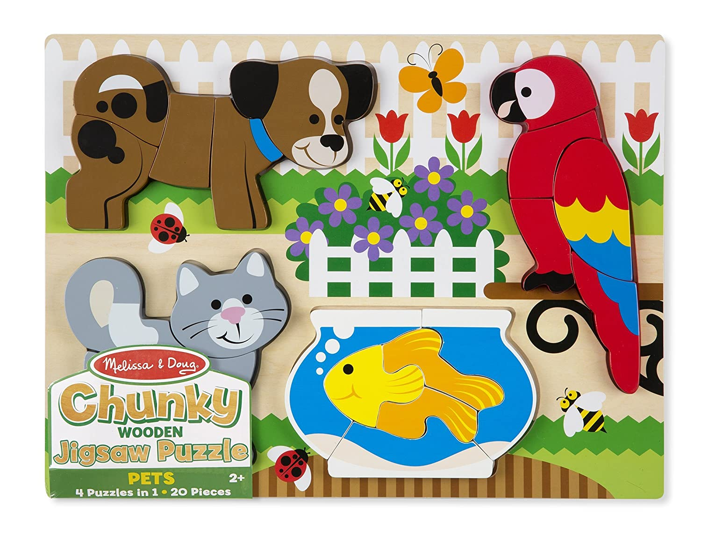 Amazon Melissa Doug Pets Wooden Chunky Jigsaw Puzzle