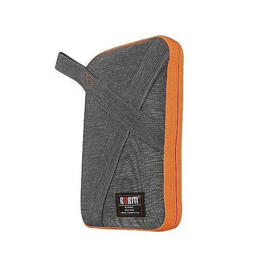 BUBM Designer Electronics Accessories Carry Case / Travel Organiser Bag with Handle (Medium, Grey)
