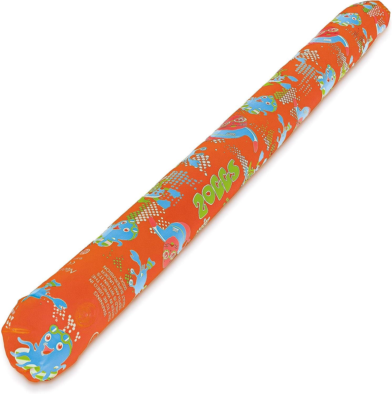 Zoggs Inflatable Churro Piscina, Churros de Flotación, Unisex-Youth, Naranja, 115 cm