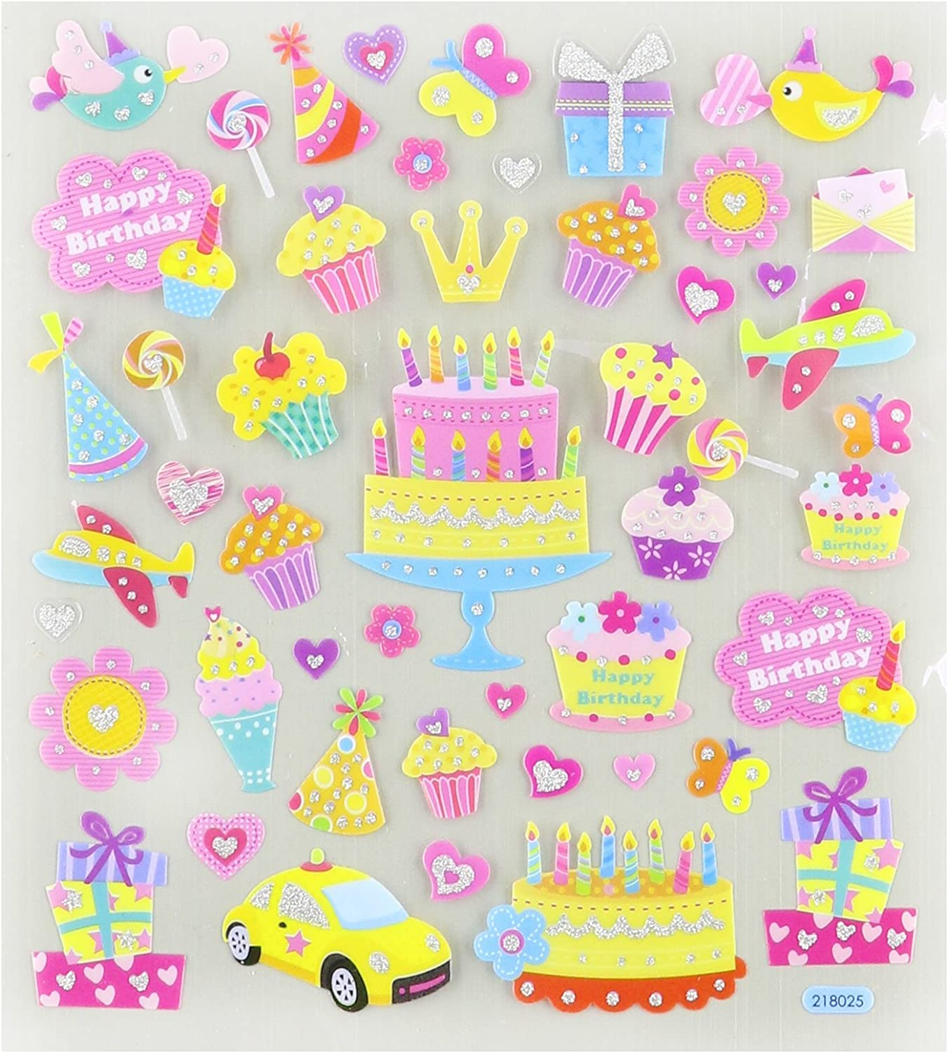 Tattoo King Multi-Colored Stickers-Birthday Party