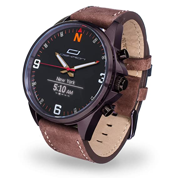 Oskron Gear Smartwatch (Brown)