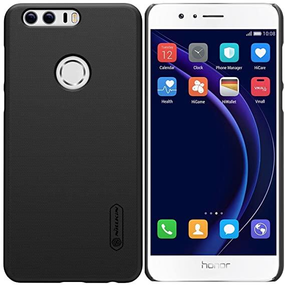 Huawei Honor 8 Case, Nillkin Ultra Slim Thin Anti Slipping Hard PC Cover  Case, [Frosted] Durable Anti Fingerprints Back Case for Huawei Honor 8  (with