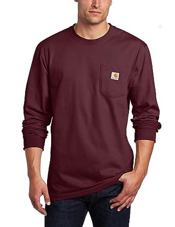 Carhartt Herren Großer Tasche Langen Ärmeln Workwear T Shirt K126 by Carhartt