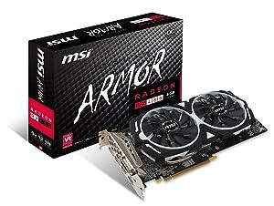 MSI GAMING Radeon RX 480 GDDR5 8GB CrossFire VR Ready FinFET DirectX 12 Graphics Card (RX 480 ARMOR 8G OC)