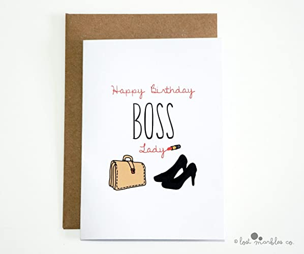 Boss Birthday Card For Her