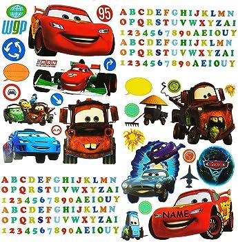 Unbekannt Xl Set Disney Cars Lightning Mcqueen Sticker