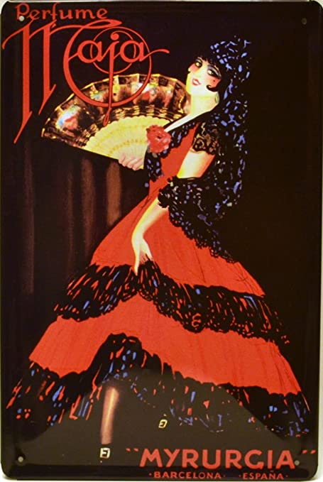 ART ESCUDELLERS Cartel Póster publicitario de Chapa metálica con diseño Retro Vintage de Catalunya/España. Tin Sign. 30 cm x 20 cm (MYRURGIA ...