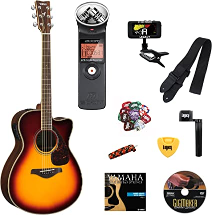 Yamaha fsx830 C pequeño cuerpo Cutaway Guitarra Electroacústica ...